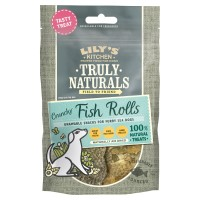 Lilys Kitchen Truly Naturals Fish Rolls Dog Treats 2 Pack