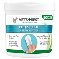 Vets Best Clean Teeth Finger Pads for Dogs 50 Pads