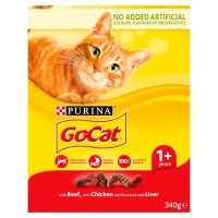Go-Cat Beef Chicken & Liver Adult Cat Food 340g
