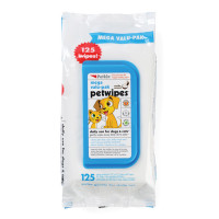 Petkin Value Pack Cleansing Wipes For Dogs & Cats 125 Wipes