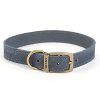Ancol Timberwolf Blue Leather Dog Collar Size 3
