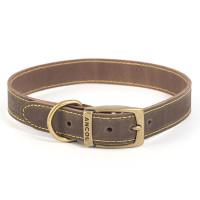 Ancol Timberwolf Sable Leather Dog Collar Size 3