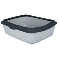 Trixie Classic Grey Cat Litter Tray with Rim
