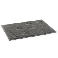 Ancol Paw Print Feeding Mat Grey