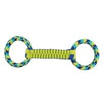 "K9 Fitness Ballistic Twist & Rope Tugger Dog Toy 16"""