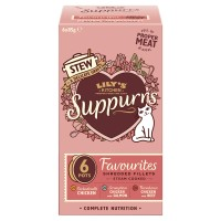 Lilys Kitchen Suppurrs Favourites Multipack Stews Wet Cat Food 85g x 6