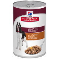 Hills Science Plan Canine Adult Advanced Fitness Turkey Canned 370g x 12