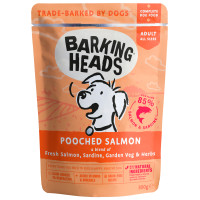 Barking Heads Pooched Salmon Adult Dog Food 300g x 10