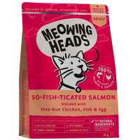 Meowing Heads So-Fish-Ticated Salmon Adult Cat Food 4kg x 2