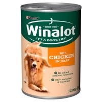 Winalot Adult Chicken In Jelly Tin Dog Food 1.2kg x 6