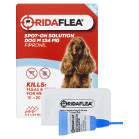 RidaFLEA Spot On Solution for Dogs 3 Pipettes - Medium Dog (10-20kg)