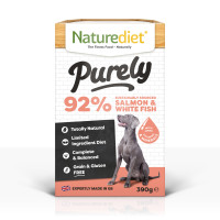 Naturediet Purely Sustainably Sourced Salmon & Whitefish Wet Adult Dog Food Trays
