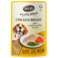 HiLife Its Only Natural Chicken Breast with Carrots & Peas in Jelly Adult Dog Food