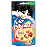 Felix Crispies Cat Treats Beef & Chicken 45g