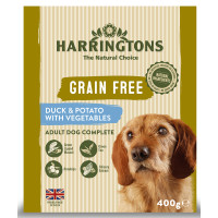 Harringtons Grain Free Duck & Potato Adult Wet Dog Food 400g x 8