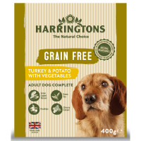 Harringtons Grain Free Turkey & Potato Adult Wet Dog Food 400g x 8