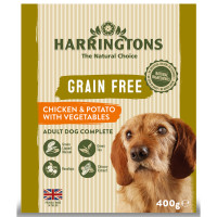 Harringtons Grain Free Chicken & Potato Adult Wet Dog Food 400g x 8