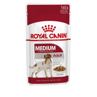 Royal Canin Medium Wet Adult Dog Food Pouches in Gravy 140g x 40