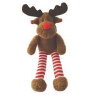 Happy Pet Super Stripes Reindeer Christmas Dog Toy