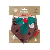 House of Paws Christmas Pudding Bandana for Dogs Small 65cm