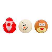 Armitage Faceball Assortment Christmas Dog Toy Santa