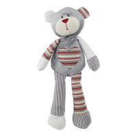 Rosewood Luxury Silver Plush Benji Christmas Bear Dog Toy