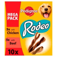 Pedigree Rodeo Chicken & Beef Chew Adult Dog Treat 40 Sticks - Mega Pack