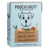 Pooch & Mutt Chicken and Fish Adult Wet Dog Food Cartons 375g x 24