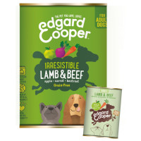 EdgardCooper Lamb & Beef Grain Free Wet Adult Dog Food 400g x 6