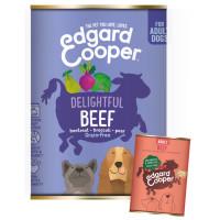 EdgardCooper Beef Grain Free Wet Adult Dog Food 400g x 18