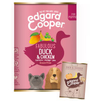 EdgardCooper Duck & Chicken Grain Free Puppy Food 400g x 6