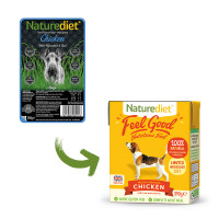 Naturediet Feel Good Chicken Wet Adult Dog Food Carton 390g x 18 Feel Good