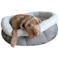 Rosewood Deep Tweed Oval Teddy Bear Dog Bed