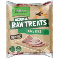 Natures Menu Lamb Ribs Raw Frozen Natural Dog Treat 2 Pieces