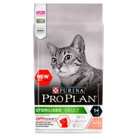 PRO PLAN OPTISENSES Sterilised Salmon Adult Dry Cat Food 3kg x 3