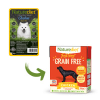 Naturediet Feel Good Grain-free Chicken Wet Adult Dog Food Cartons 390g x 18 Feel Good