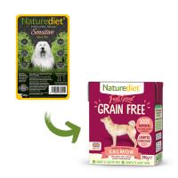 Naturediet Feel Good Grain-free Salmon Wet Adult Dog Food Cartons 390g x 18 Feel Good