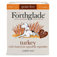 Forthglade Complete Grain Free Turkey & Veg Senior Dog Food 395g x 18