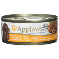Applaws Beef Steak with Vegetables Tins Wet Dog Food 156g x 12