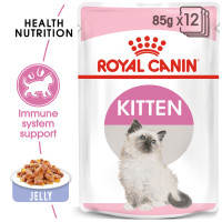 Royal Canin Kitten In Jelly Wet Cat Food Pouches 85g x 12
