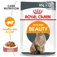 Royal Canin Intense Beauty Care in Gravy Adult Wet Cat Food Pouches 85g x 12