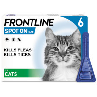 Frontline Flea Spot On Cat 0.5ml x 6 pipettes