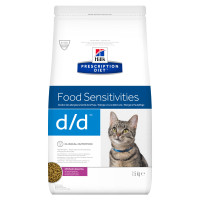 Hills Prescription Diet DD Food Sensitivities Duck & Green Pea Dry Cat Food 1.5kg