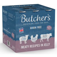 Butchers Meaty Recipes Cans in Jelly Wet Dog Food 400g x 18