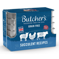 Butchers Succulent Meat Recipes Cans Wet Dog Food 150g x 12