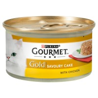 Gourmet Gold Savoury Cake Chicken In Gravy Adult Cat Food 85g x 12