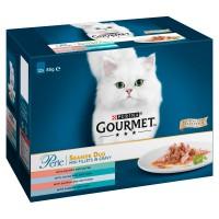 Gourmet Perle Pouch Seaside Duo in Gravy Cat Food 85g x 12