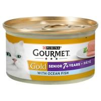 Gourmet Gold Pate With Ocean Fish Senior Cat Food 85g x 12