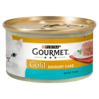 Gourmet Gold Savoury Cake Tuna In Gravy Adult Cat Food 85g x 12