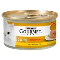 Gourmet Gold Melting Heart Chicken Adult Cat Food 85g x 12